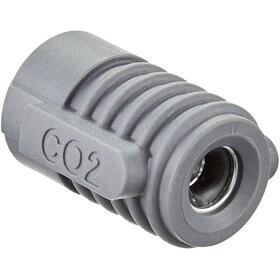 Crankbrothers Klic HP Bomba de Cartucho CO2 incl. manómetro analógico con soporte de marco, Plateado/negro